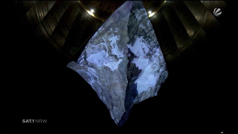 Matterhorn im Gasometer in Oberhausen (Foto: SAT.1 NRW)