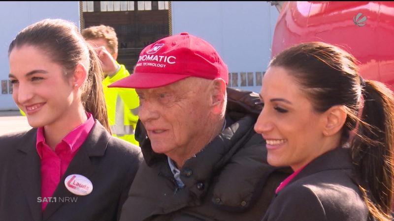Niki Lauda bietet Flüge in Düsseldorf an (Foto: SAT.1 NRW)
