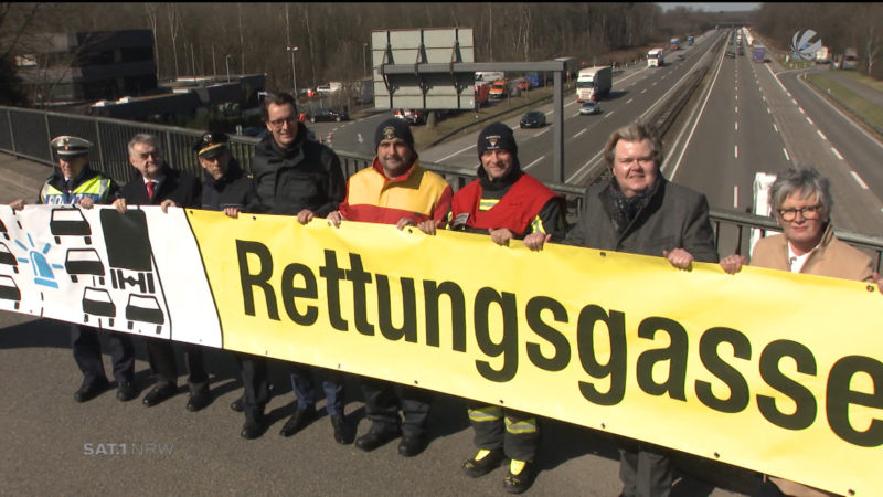 Kampagne Rettungsgasse (Foto: SAT.1 NRW)