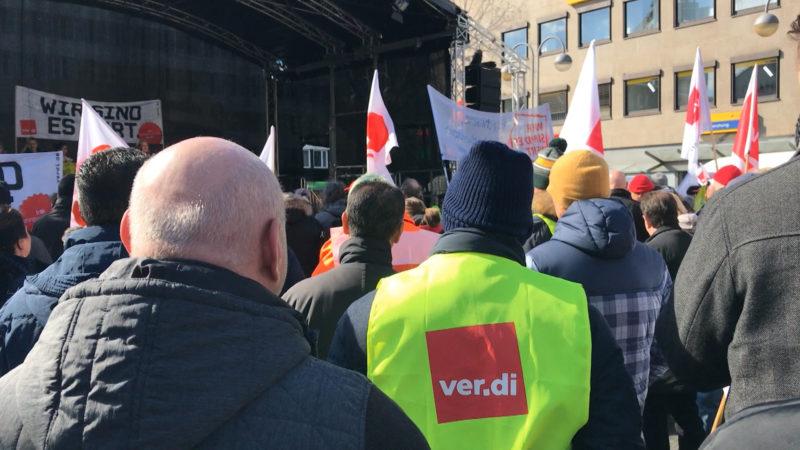 Warnstreiks im öffentlichen Dienst (Foto: SAT.1 NRW)