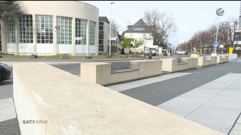 Beton-Bänke zum Schutz vor Terror (Foto: SAT.1 NRW)