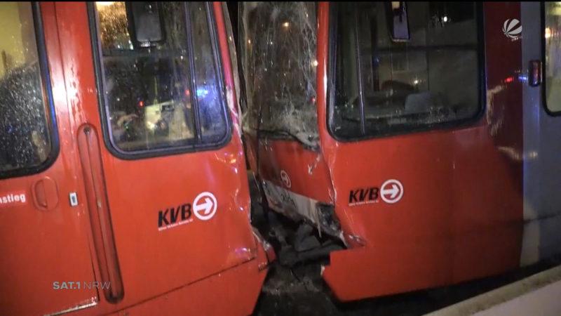 Köln: Straßenbahn-Unfall (Foto: SAT.1 NRW)