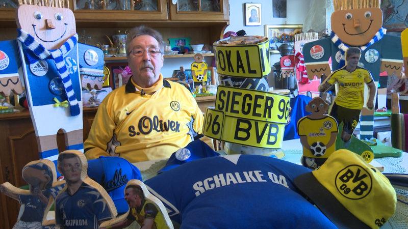 Schalke-BVB Fan (Foto: SAT.1 NRW)