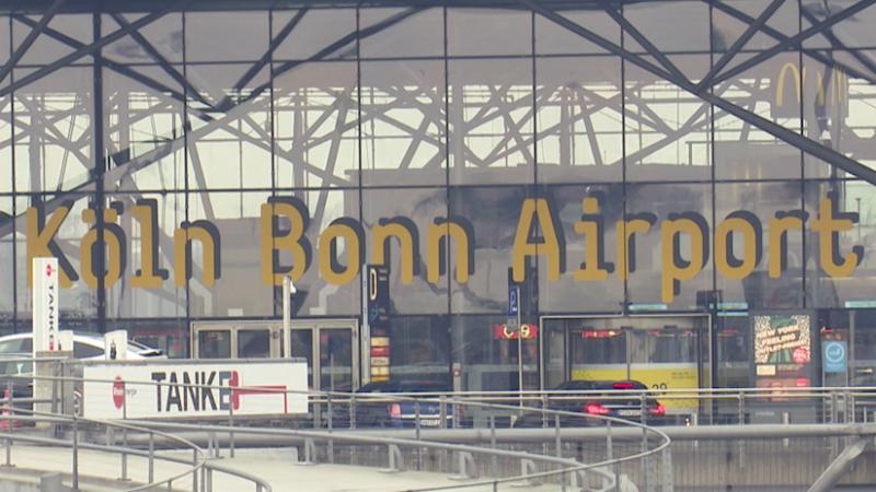 Streik auch am Flughafen (Foto: SAT.1 NRW)