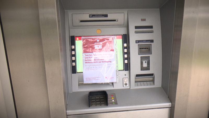 Bank fürchtet Automatensprengung (Foto: SAT.1 NRW)