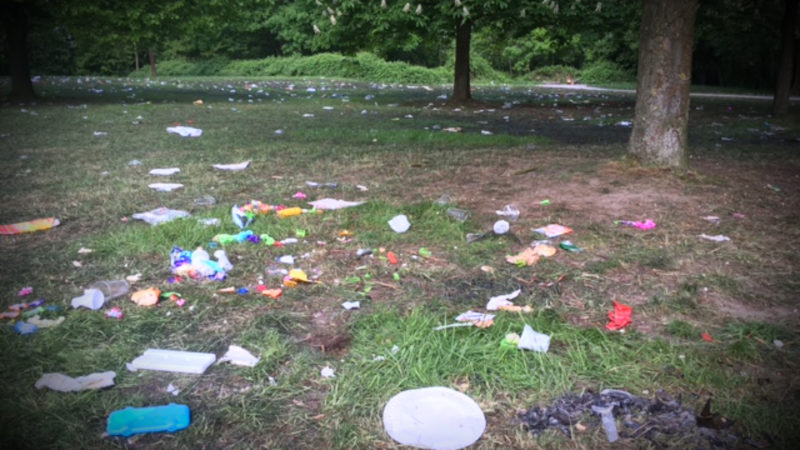 Müllsammelaktion in Oberhausen (Foto: SAT.1 NRW)