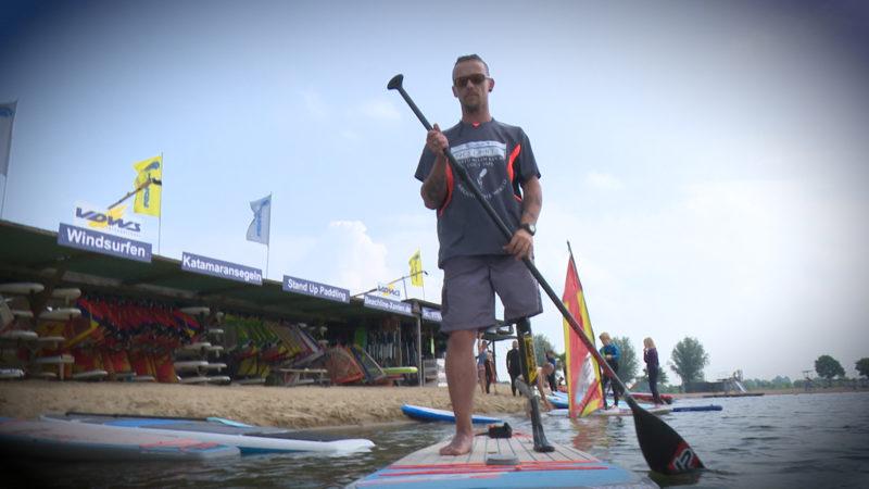 Rekordwunsch im Stand Up Paddeling (Foto: SAT.1 NRW)