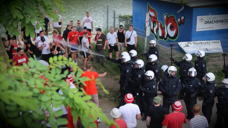 Kritik nach Polizeieinsatz (Foto: SAT.1 NRW)