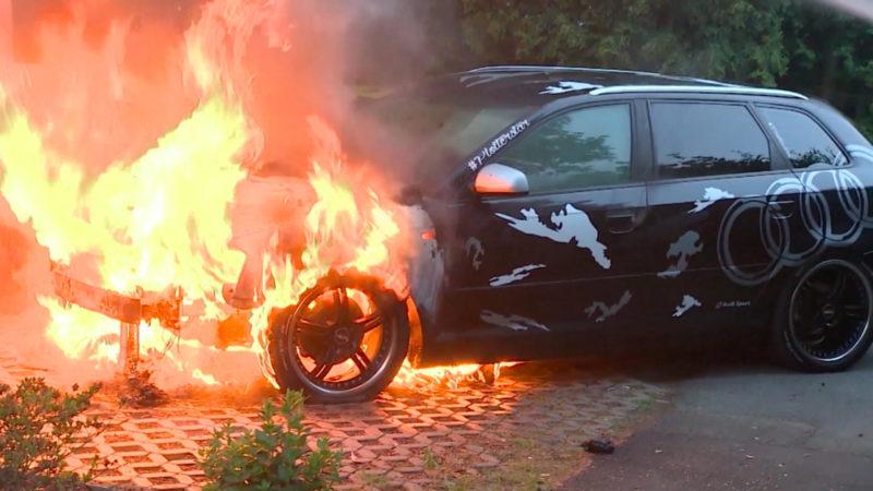 Brandstiftung in Goch (Foto: SAT.1 NRW)
