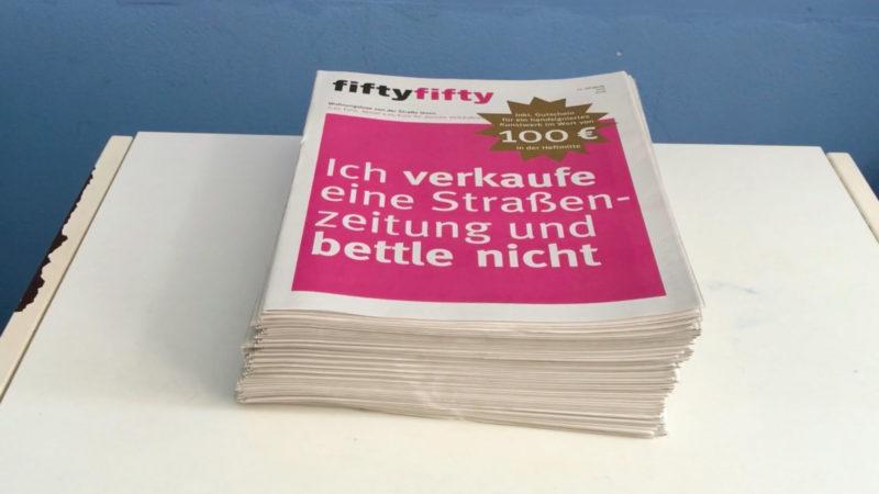 Obdachlosenzeitung vor dem Aus (Foto: SAT.1 NRW)