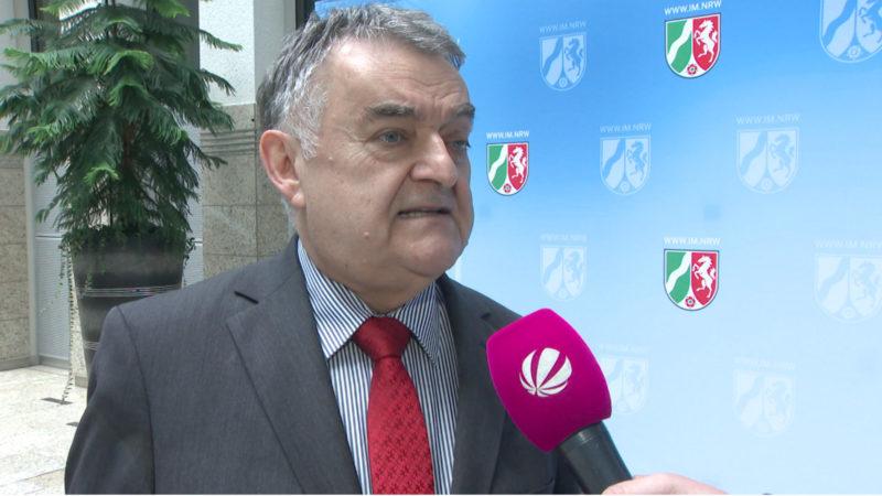 Herbert Reul zur Bundesinnenministerkonferenz (Foto: SAT.1 NRW)
