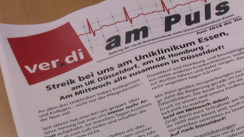 48Stunden Streik (Foto: SAT.1 NRW)
