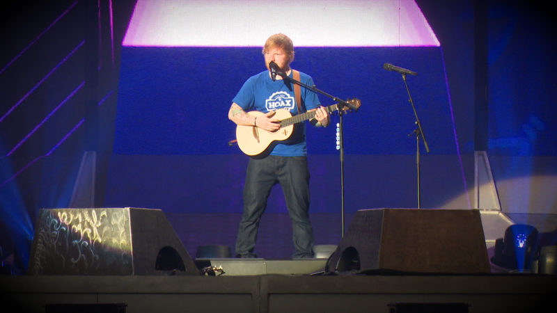ED SHEERAN IN GELSENKIRCHEN (Foto: SAT.1 NRW)