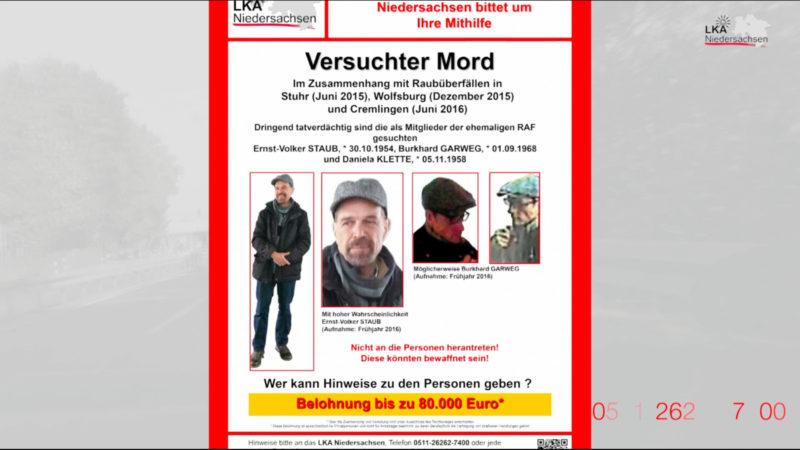 RAF-Terroristen in NRW aktiv (Foto: SAT.1 NRW)