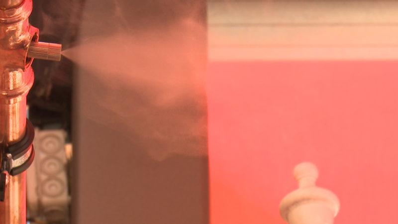 Nebel-Maschine in Restaurant in Kevelaer - gegen Mücken und Hitze (Foto: SAT.1 NRW)