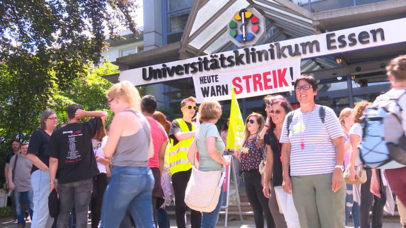 Wieder Streiks an Unikliniken (Foto: SAT.1 NRW)