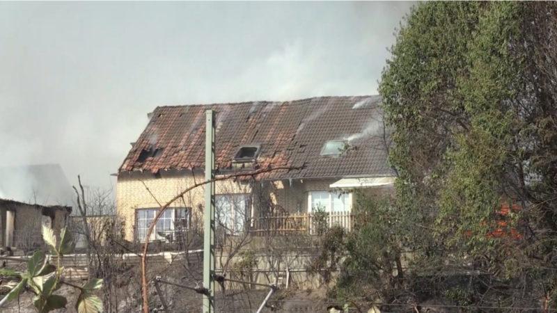 So erlebten die Anwohner den Großbrand (Foto: SAT.1 NRW)