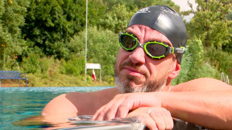 Extrem-Schwimmer mit großem Ziel (Foto: SAT.1 NRW)