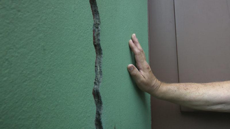 Gefährliche Risse an Häusern in Essen (Foto: SAT.1 NRW)