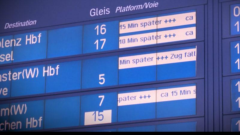 Landesregierung gegen Bahnverspätungen (Foto: SAT.1 NRW)