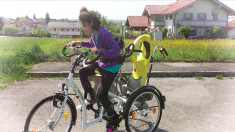 Behindertenfahrrad geklaut (Foto: SAT.1 NRW)