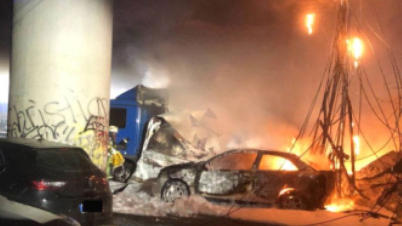 Prozessbeginn gegen Feuerteufel - weil er in Duisburg einen LKW angezündet hat (Foto: SAT.1 NRW)