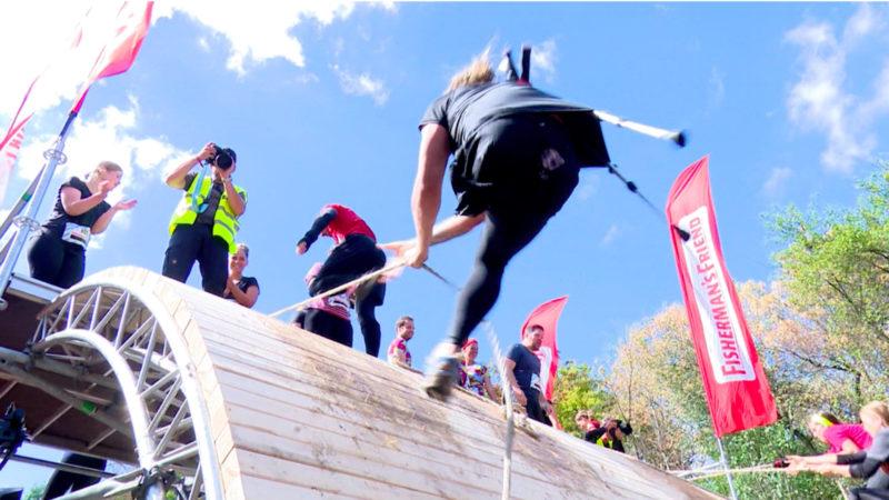Extremsport auf einem Bein (Foto: SAT.1 NRW)