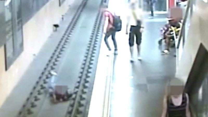 Auf die Gleisen geschubst - Wie kann man das verhindern was sich in der Kölner U-Bahn abgespielt hat (Foto: SAT.1 NRW)
