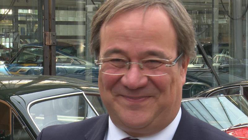 Ministerpräsident Armin Laschet zur Zukunft der Braunkohle (Foto: SAT.1 NRW)