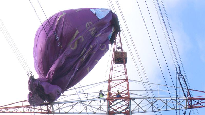 Heißluftballon in Bottrop geborgen (Foto: SAT.1 NRW)