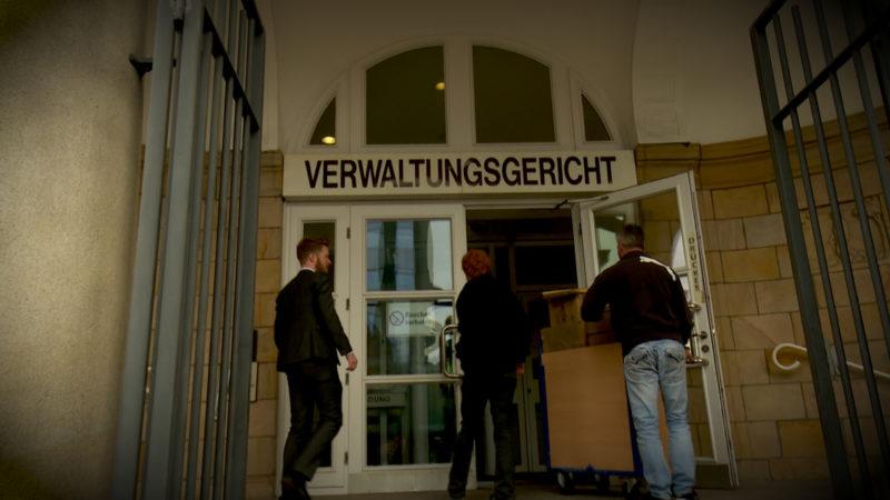 PROZESS WEGEN POLIZEIFOTOS (Foto: SAT.1 NRW)