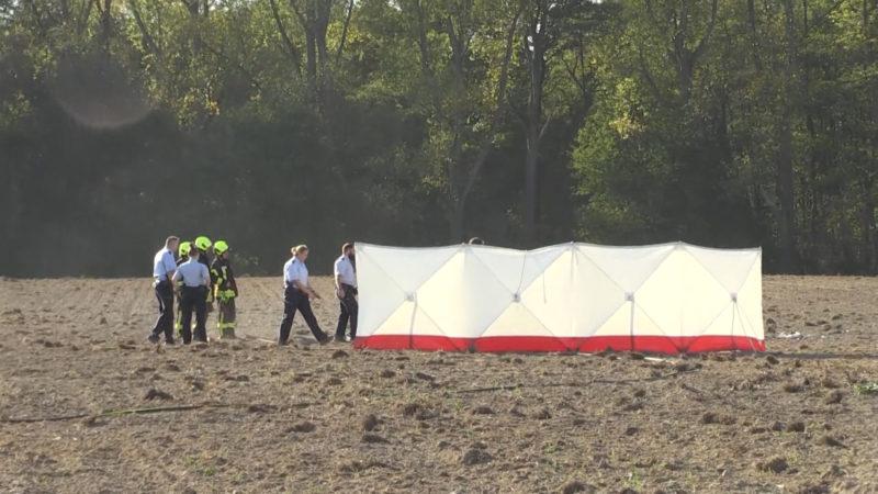 Flugzeug abgestürzt (Foto: SAT.1 NRW)