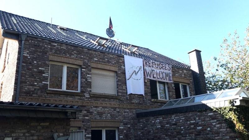 Umweltaktivisten besetzen Häuser (Foto: SAT.1 NRW)