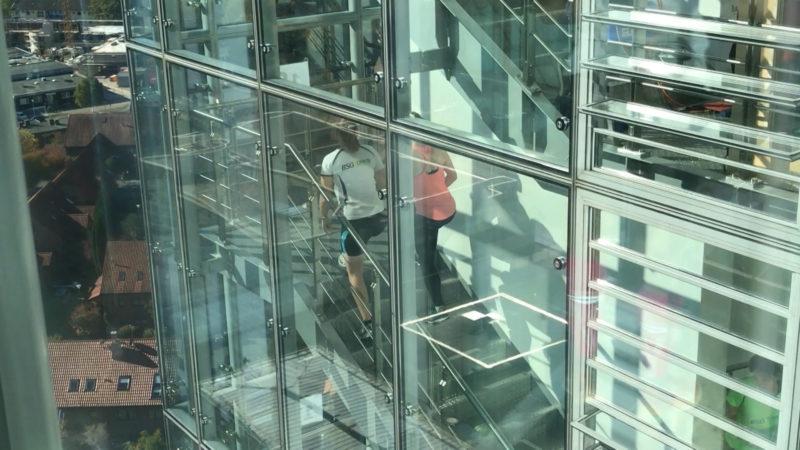 Treppenlauf in Münster (Foto: SAT.1 NRW)