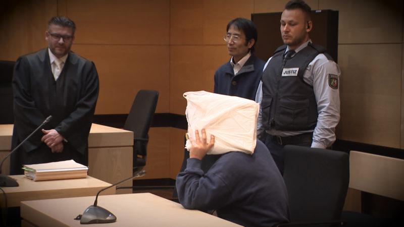 Amokläufer vor Gericht (Foto: SAT.1 NRW)