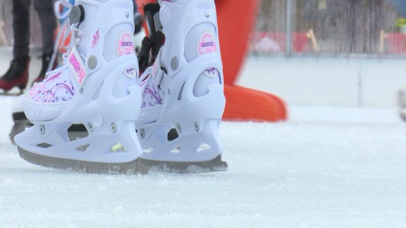 Eislaufen am Ebertplatz (Foto: SAT.1 NRW)