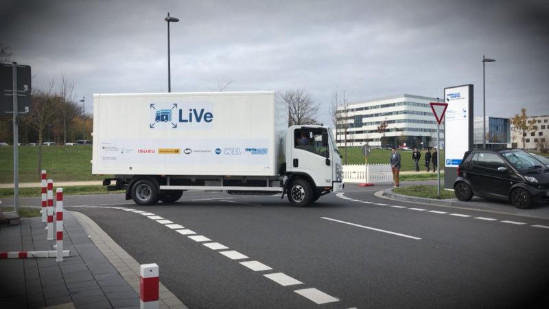 Elektro-LKW vorgestellt (Foto: SAT.1 NRW)