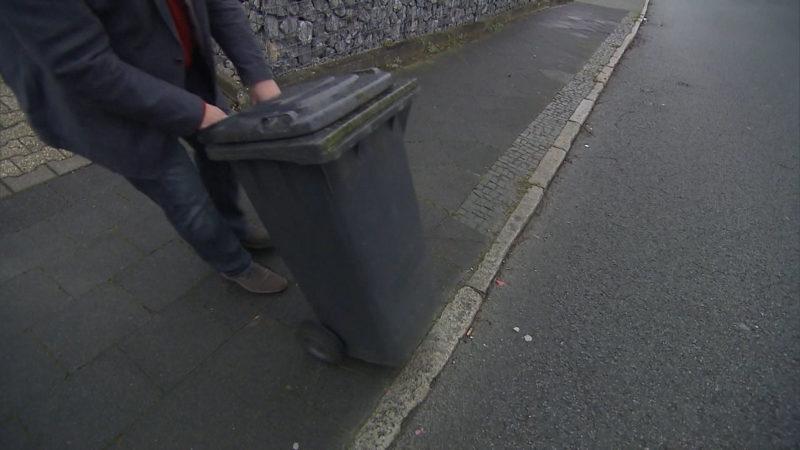 Bußgeld für zu frühes Müll-Rausstellen?! (Foto: SAT.1 NRW)