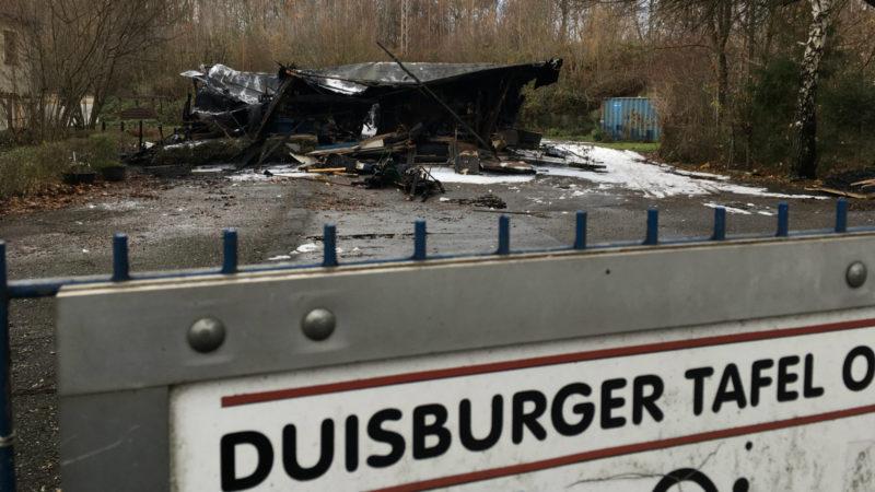 Duisburger Tafel abgebrannt (Foto: SAT.1 NRW)