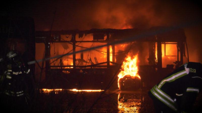 BUSSE IN FLAMMEN (Foto: SAT.1 NRW)
