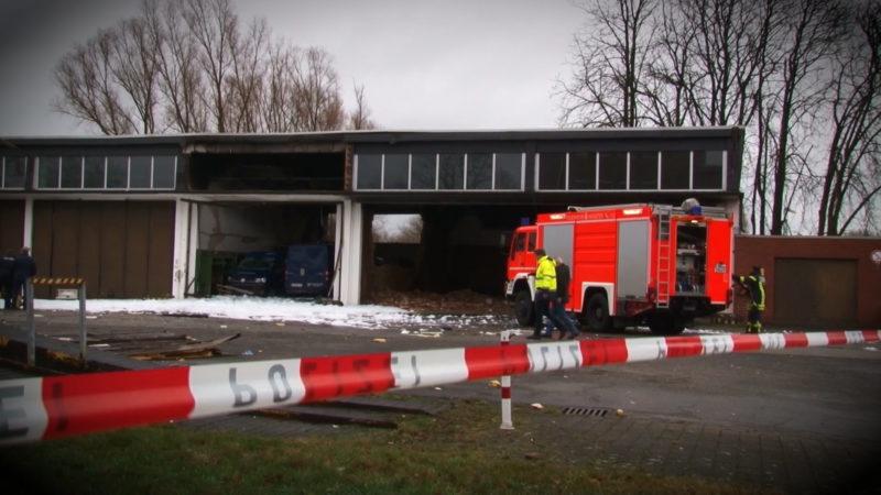 Explosion in Münster (Foto: SAT.1 NRW)