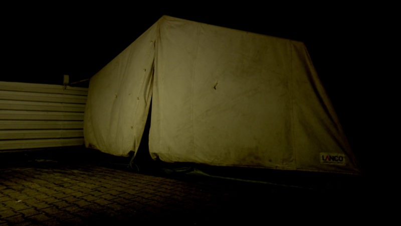 Kältezelt für Obdachlose (Foto: SAT.1 NRW)