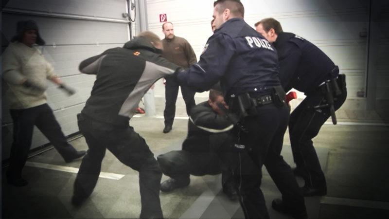 Polizeiübung wird zum Ernstfall (Foto: SAT.1 NRW)