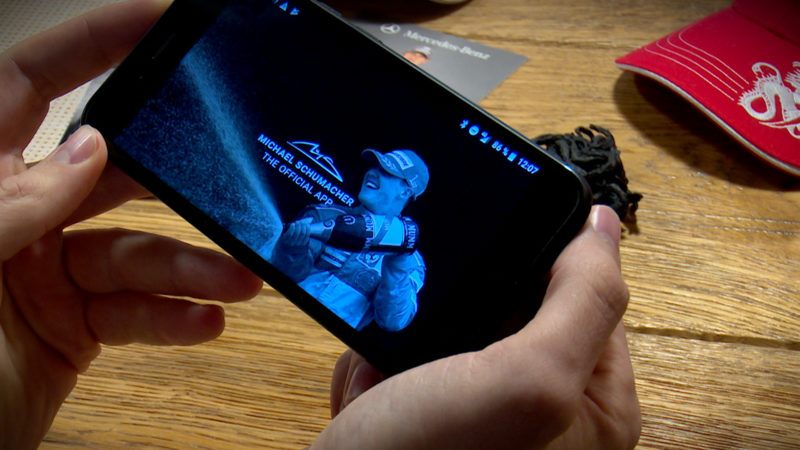 Eine App für Michael Schumacher (Foto: SAT.1 NRW)