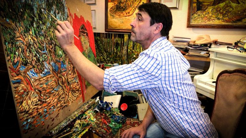 Künstler malt van Gogh nach (Foto: SAT.1 NRW)