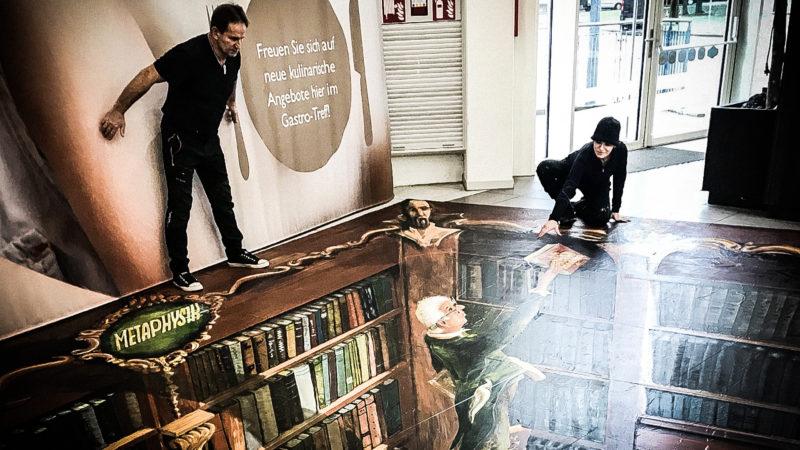 3D Kunstwerke im Einkaufszentrum (Foto: SAT.1 NRW)