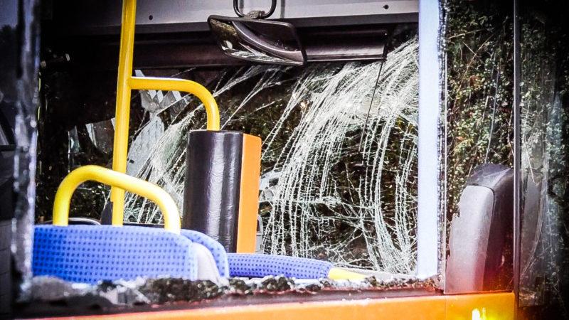 Schulbus-Unfall (Foto: SAT.1 NRW)