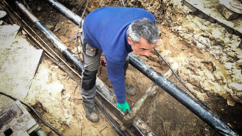 Bauarbeiter verhindert Gas-Unglück (Foto: SAT.1 NRW)