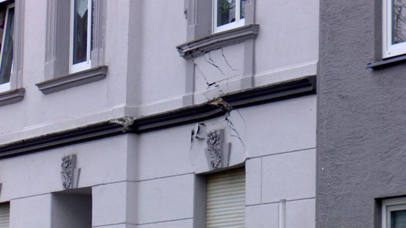 Häuser geräumt wegen Einsturzgefahr (Foto: SAT.1 NRW)