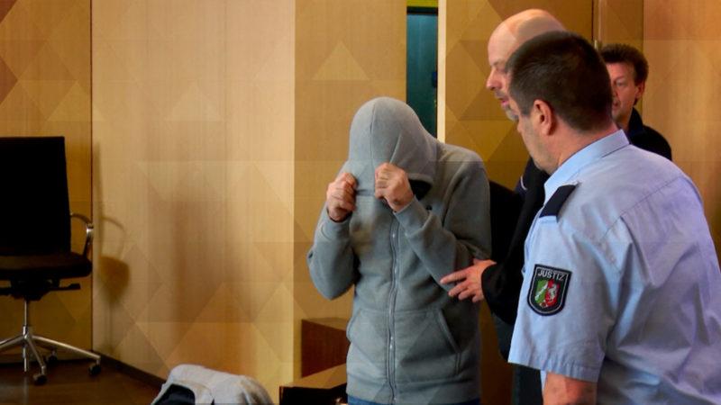 Prozessbeginn gegen Messerstecher (Foto: SAT.1 NRW)